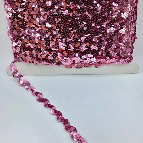 "Trimplace Dark Pink 5/8"" Sequin Ric Rac"