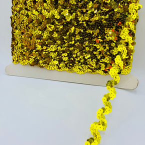 "Trimplace Chartreuse 5/8"" Sequin Ric Rac"