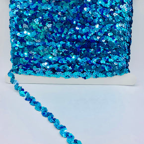 "Jewel Teal 5/8"" Sequin Ric Rac"