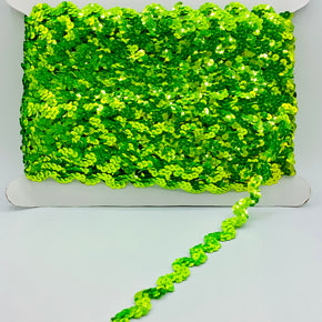 "Trimplace Fluorescent Green 5/8"" Sequin Trim"