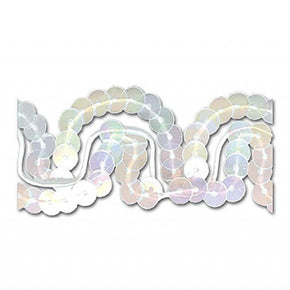 WHITE IRIS 1 INCH SEQUIN TRIM