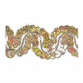 GOLD HOLOGRAM 1 INCH SEQUIN TRIM