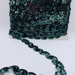 "Trimplace Forest Green 1"" Sequin Trim"