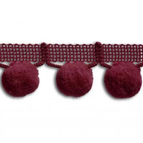 WINE 1-1/4   INCH JUMBO BALL FRINGE