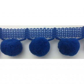 "ROYAL  1-1/4"" JUMBO BALL FRINGE WITH 1"" POM POM"