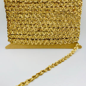 "Trimplace Gold 3/8"" Cupped Sequin Scroll"