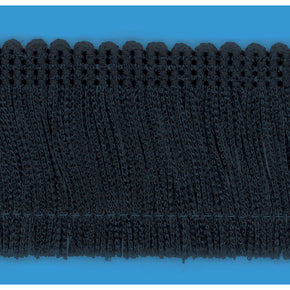 "Black 2"" Rayon Chainette Fringe"