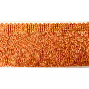 "Trimplace Orange 2"" Rayon Chainette Fringe"
