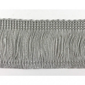 "Trimplace Gray 2"" Rayon Chainette Fringe"