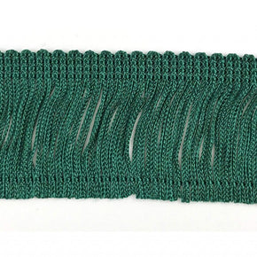 "Trimplace Forest Green 2"" Rayon Chainette Fringe"