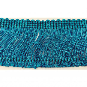 "Trimplace Turquoise 2"" Rayon Chainette Fringe"