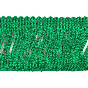 "Trimplace Kelly Green 2"" Rayon Chainette Fringe"