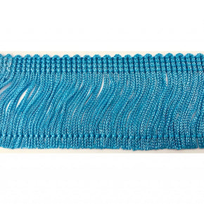 "Trimplace Azure Blue 2"" Rayon Chainette Fringe"