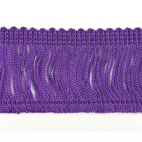 "Trimplace Purple 2"" Rayon Chainette Fringe"
