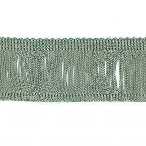 "Trimplace Sage Green 2"" Rayon Chainette Fringe"