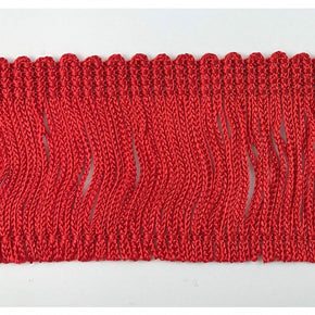 "Trimplace Cherry Red 2"" Rayon Chainette Fringe"