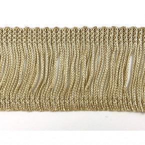 "Trimplace Beige 2"" Rayon Chainette Fringe"