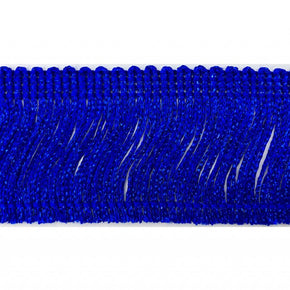 "Trimplace Royal Blue Metallic 2"" Chainette Fringe"