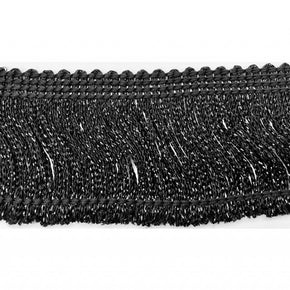 "Trimplace Black Metallic 2"" Chainette Fringe"