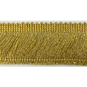 "Trimplace Gold Mettalic 2"" Chainette Fringe"