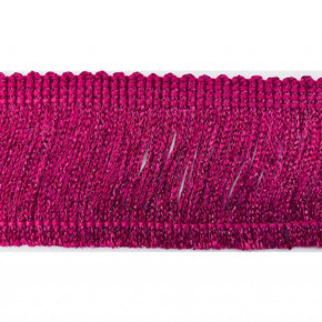 "Trimplace Hot Pink Metallic 2"" Chainette Fringe"