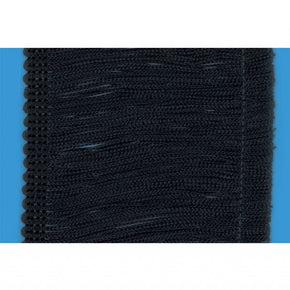 "Black 4"" Rayon Chainette Fringe"