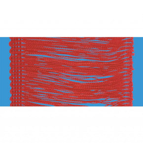 "Red 4"" Rayon Chainette Fringe"