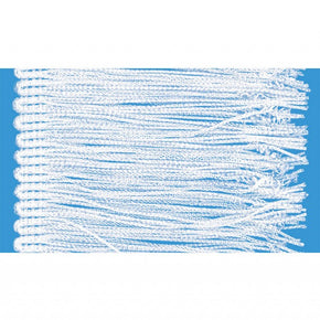"White 4"" Rayon Chainette Fringe"