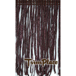 "BROWN 4"" RAYON CHAINETTE FRINGE"