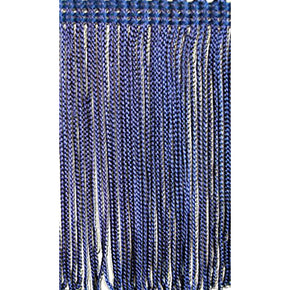 Navy 4 Inch Rayon Chainette Fringe