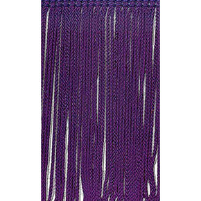 Purple 4 Inch Rayon Chainette Fringe