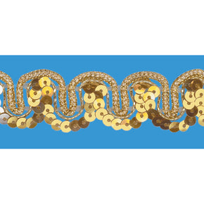 GOLD / GOLD 5/8 INCH SEQUIN TRIM