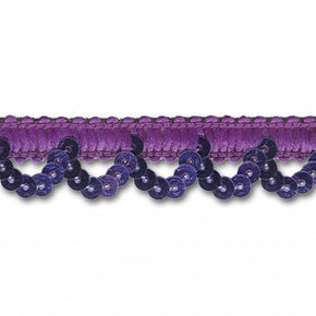 PURPLE 5/8 INCH STRETCH SEQUIN LOOP