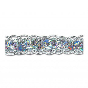 SILVER HOLOGRAM 5/8 INCH SEQUIN GUIMP TRIM