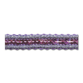 LILAC / SILVER / LILAC 1/2 INCH SEQUIN TRIM