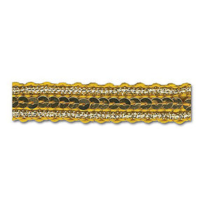 GOLD / GOLD / GOLD 1/2 INCH SEQUIN TRIM
