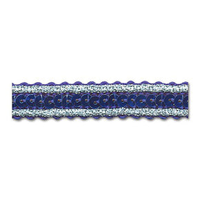 ROYAL / SILVER / ROYAL 1/2 INCH SEQUIN TRIM