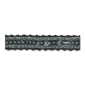 SILVER / SILVER / BLACK 1/2 INCH SEQUIN TRIM