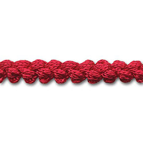 RED 3/8 INCH PEBBLE BRAID