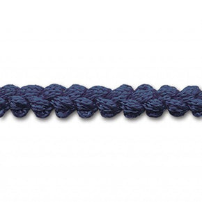 NAVY 3/8 INCH PEBBLE BRAID