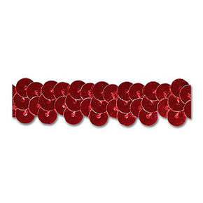RED 1/2 INCH STRETCH SEQUIN