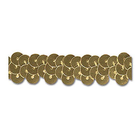 GOLD 1/2 INCH STRETCH SEQUIN
