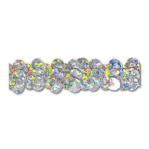 SILVER HOLOGRAM 1/2 INCH STRETCH SEQUIN