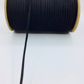 "Black 3/16"" Braided Elastic Stretch"