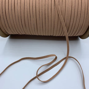 "Tan 3/16"" Braided Elastic Stretch"