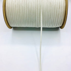 "Winter White 3/16"" Braided Elastic Stretch"