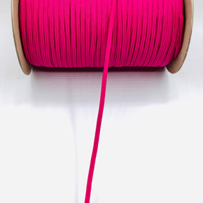 "Hot Pink 3/16"" Braided Elastic Stretch"