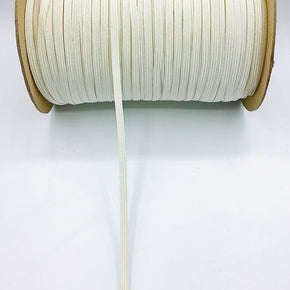 "Winter White 1/4"" Braided Elastic Stretch"