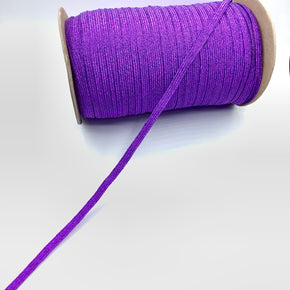 "Purple 5/16"" Sparkle Braided Elastic Stretch"