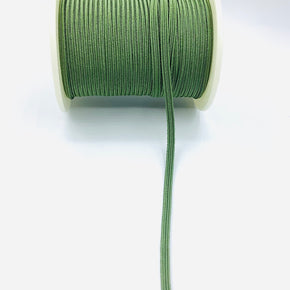 "Army Green 3/16"" Braided Elastic Stretch"